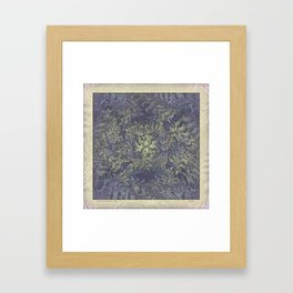 DISTORTED PASTEL PURPLE BRACKEN FERNS Framed Art Print