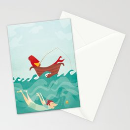 Seafood is Overrated Stationery Cards