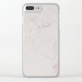 Vintage ivory brown elegant marble pattern Clear iPhone Case