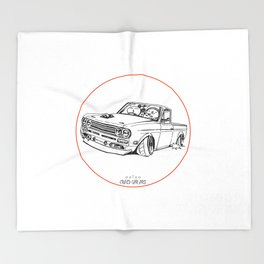 Crazy Car Art 0188 Throw Blanket