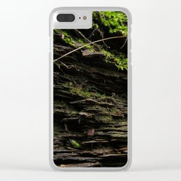 Mossy Growth Clear iPhone Case