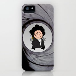 The pig with the golden gun iPhone Case