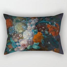 "Margareta Haverman  ""A vase with flowers"" Rectangular Pillow"