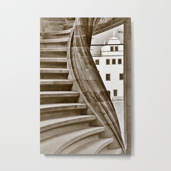 Sand stone spiral staircase 12 Metal Print