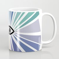 all seeing eye Mugs featuring All seeing eye  by Nobra