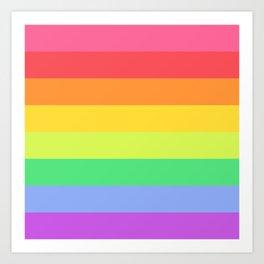 Love the Rainbows Art Print