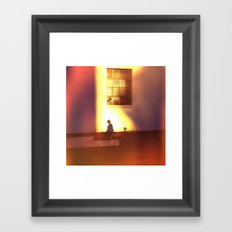 the landing of dusk Framed Art Print