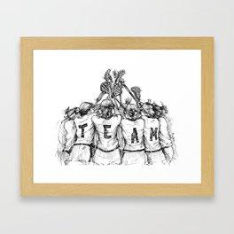 """TEAM"" (The Art of Lax™) Framed Art Print"