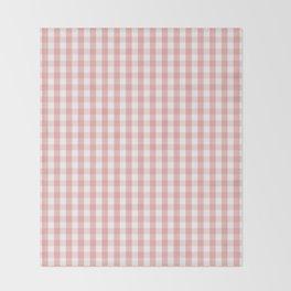 Large Lush Blush Pink and White Gingham Check Throw Blanket
