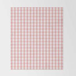 Large Lush Blush Pink and White Gingham Check Decke