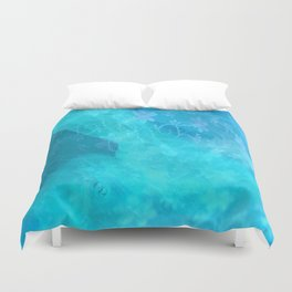 ghost in the swimming pool #003 Duvet Cover