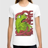 insects T-shirts featuring Frogs eat Insects by ElenaTerrin