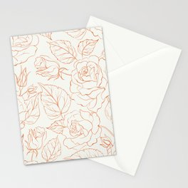 Rose Beautiful Pattern Stationery Cards