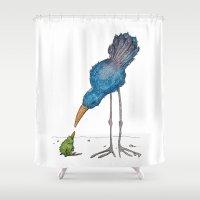 teacher Shower Curtains featuring The Teacher by Jennifer Geldard
