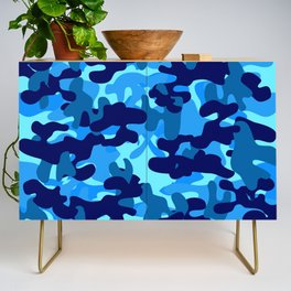 Camouflage (Blue) Credenza
