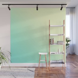 Gradient ombre lime yellow bright summer neon colors Wall Mural