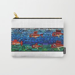 Fishes (white) Carry-All Pouch