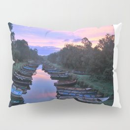 Early Morning at the Boat park Pillow Sham