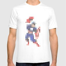 Mr A Mens Fitted Tee MEDIUM White