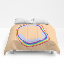 Rainbow mouth Comforters