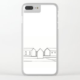 Stairs and Houses - 3 Clear iPhone Case