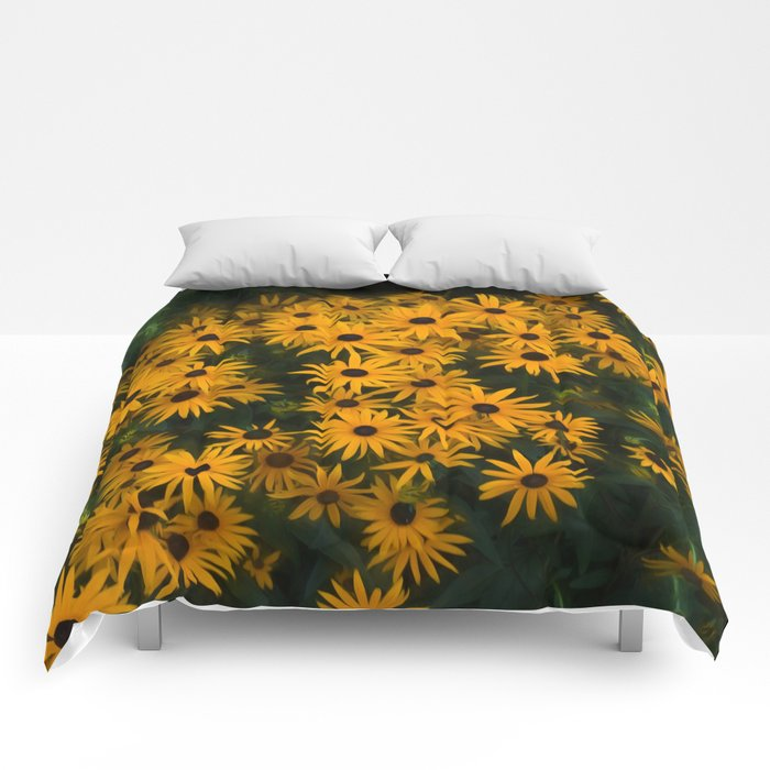 Brown eyed Susans Comforters