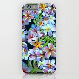 Rainbow Plumeria Dark iPhone Case