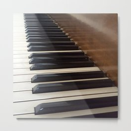 Old Piano Metal Print