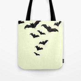 MYRIAD BLACK FLYING BATS DESIGN Tote Bag