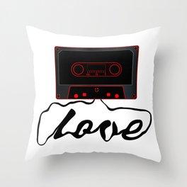 Unwound Love Audio Cassette Throw Pillow