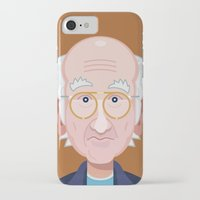larry david iPhone & iPod Cases featuring Comics of Comedy: Larry David by XK9 Works