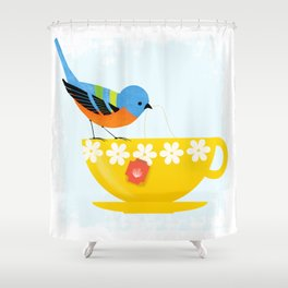 Put The Kettle On Shower Curtain
