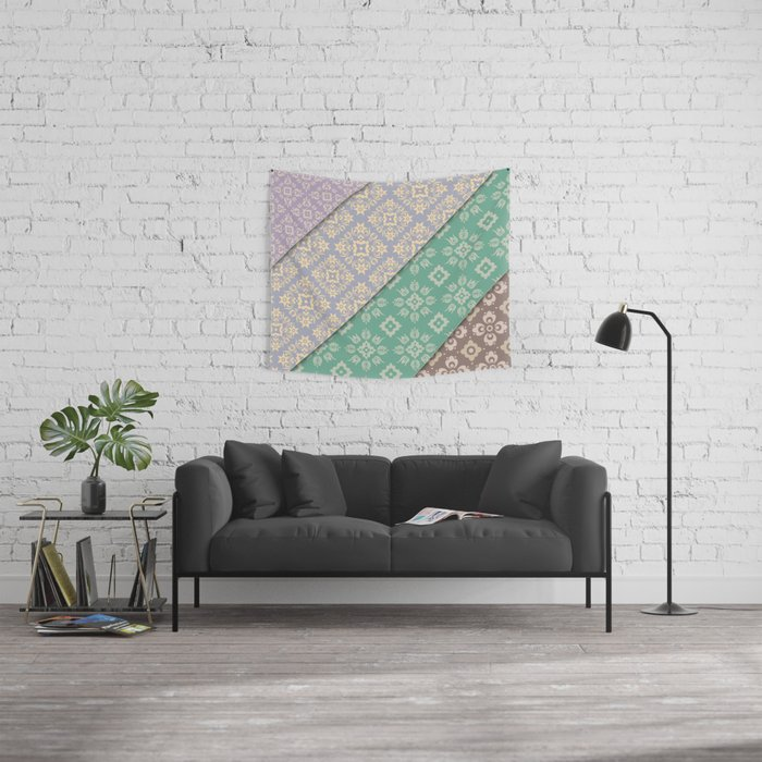 Layered patterns Wall Tapestry