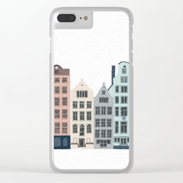 Townhouses Clear iPhone Case