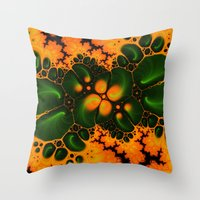fractal Throw Pillows featuring Fractal  by Karl-Heinz Lüpke