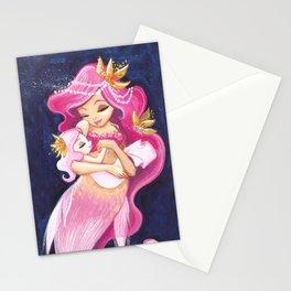Pink MerMommy 02 Stationery Cards