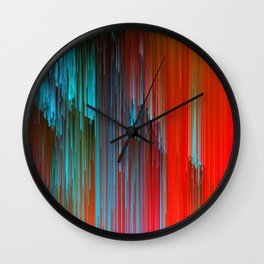 California Dreamin' - Abstract Glitch Pixel Art Wall Clock