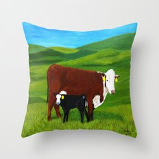 On the paster Throw Pillow