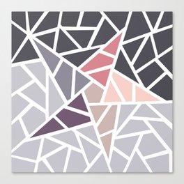 Contemporary Mosaic Star Design Canvas Print