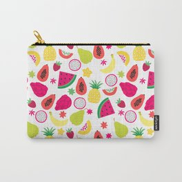 Tutti Frutti Summer Fruit Pattern Carry-All Pouch