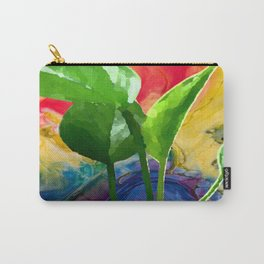 Abstract Pothos Carry-All Pouch
