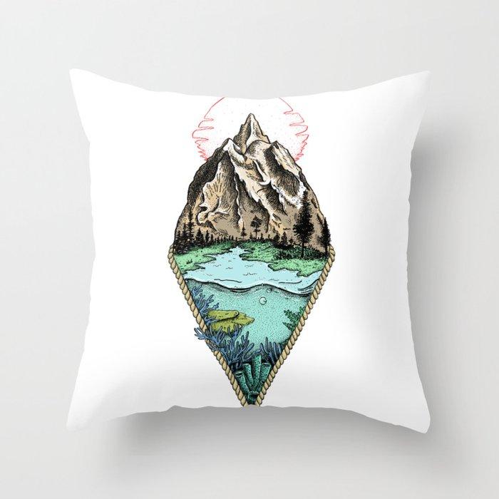 Simple origin Throw Pillow