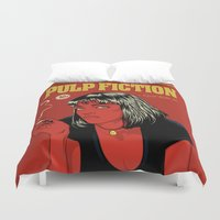 tarantino Duvet Covers featuring P. F. by CranioDsgn