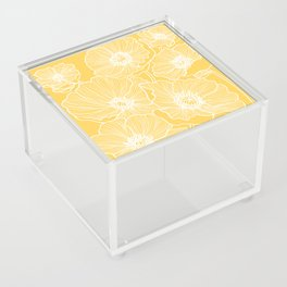 Sunshine Yellow Poppies Acrylic Box
