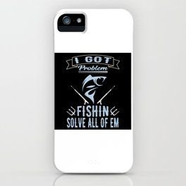 Fishing Fishing Angel Fish Harpoon iPhone Case