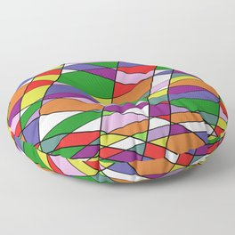 Stain Glass Mosaic Pattern Floor Pillow