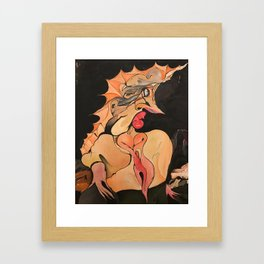 Princess with thorns Framed Art Print