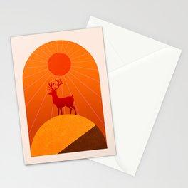 Abstraction_Sunshine_Deer_Minimalism_001 Stationery Cards