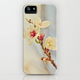 Almond Blossoms in the Wind iPhone Case
