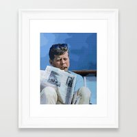 jfk Framed Art Prints featuring JFK by aapshop